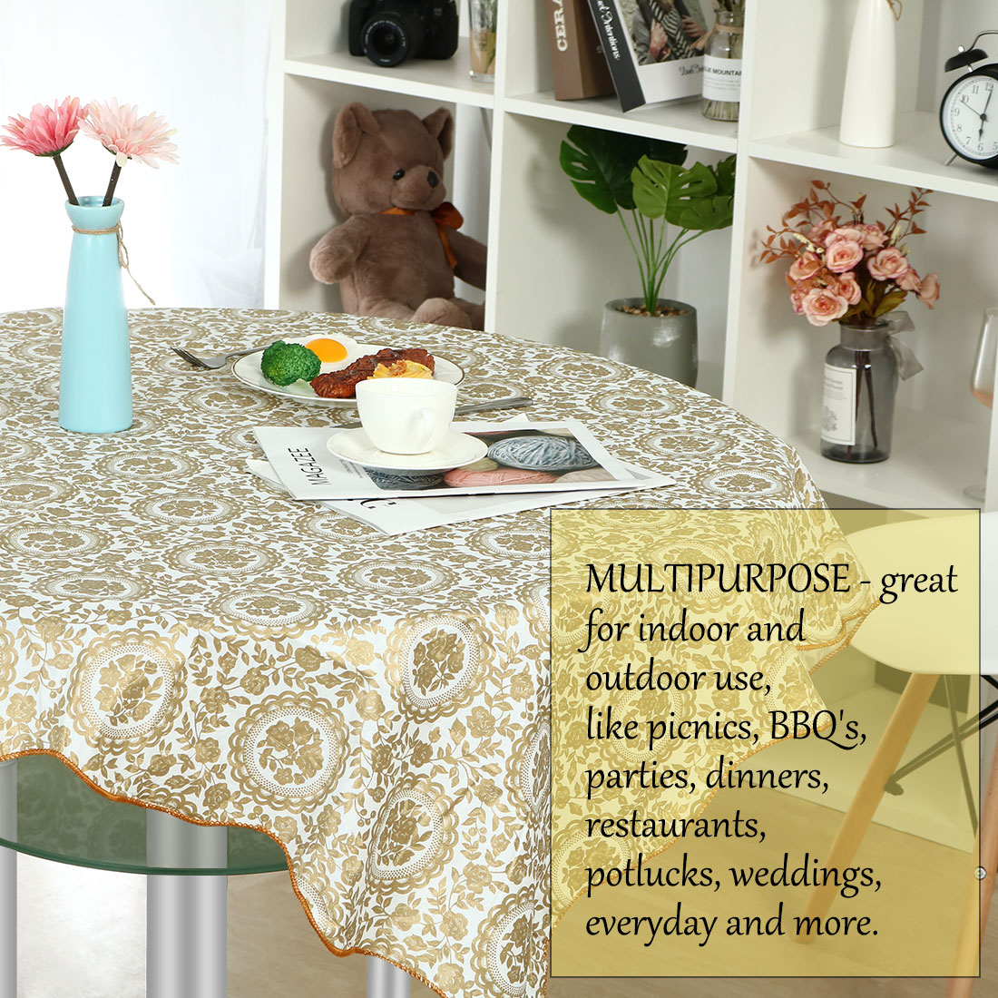 Vinyl Home Tablecloth Round Tables 60 Quot Dia God Sunflower