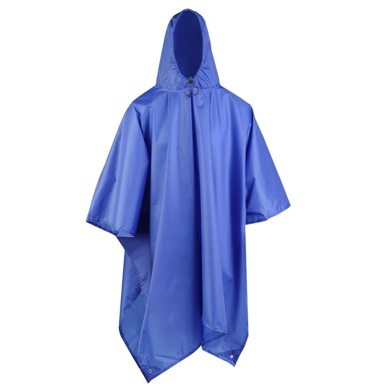Blue 3 In 1 Multifunctional Raincoat Outdoor Camping Hiking Travel Rain Poncho Backpack Rain Cover Waterproof Tent... by