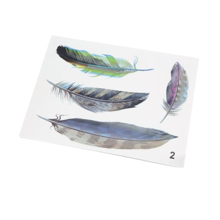 Car Vehicle Door Window Fender Hood Decoration Sticker Feather (Fender Decal)