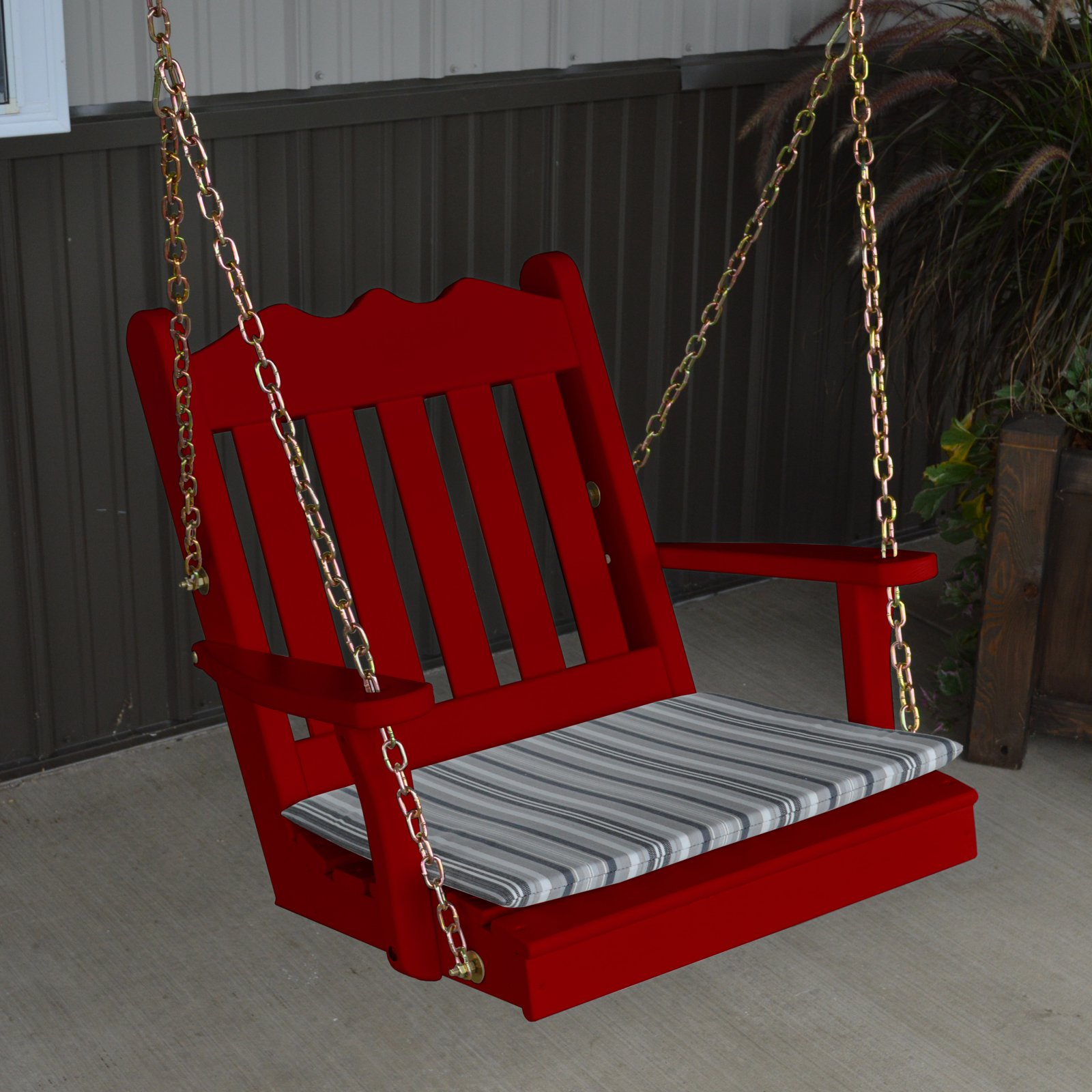 A & L Furniture Yellow Pine Royal English 2 ft. Chair Swing with Chains