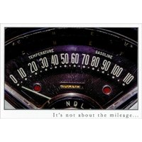 Pictura Speedometer Not About Mileage Snapshot Masculine Birthday Card for Him / Man