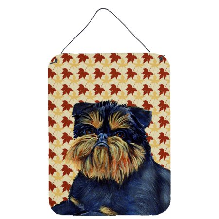 Brussels Griffon Fall Leaves Portrait Wall or Door Hanging Prints