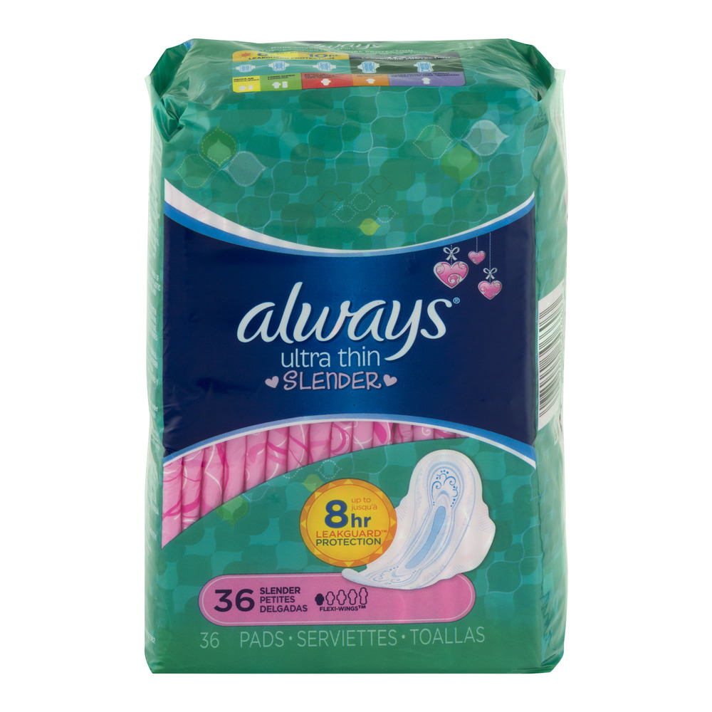 Always Ultra Thin Slender Pads with Flexi-Wings, 36 count