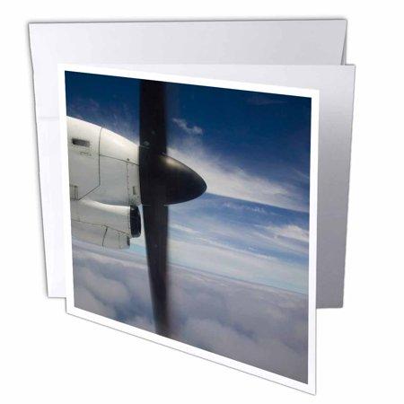Aviation Card - 3dRose Vanuatu, Tanna, Turbo-prop airliner, aviation - OC07 WBI0394 - Walter Bibikow, Greeting Cards, 6 x 6 inches, set of 12