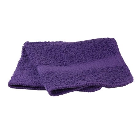 Mainstays Basic Bath Collection - Single Washcloth, Solid Purple