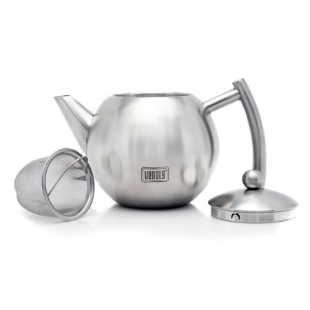 - Venoly Stainless Steel Tea Pot With Removable Infuser For Loose Leaf & Tea Bags - Dishwasher Safe & Heat Resistant - 1.5 Liter
