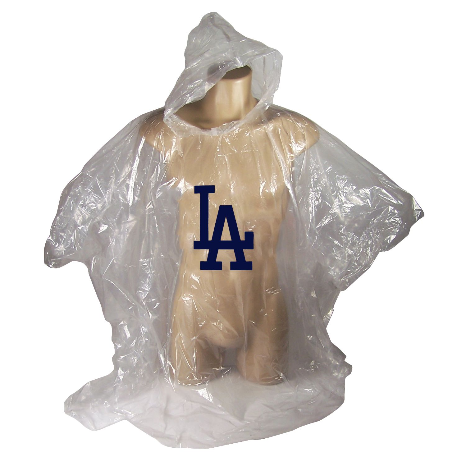 Los Angeles Dodgers Official MLB Emergency Disposable Hooded Gameday Rain Poncho Slicker by Coopersburg Sports