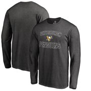 Pittsburgh Penguins Victory Arch Big & Tall Long Sleeve T-Shirt - Heather Gray