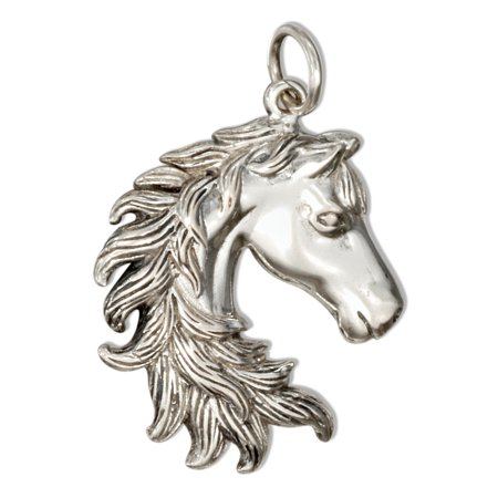 STERLING SILVER HORSE HEAD CHARM