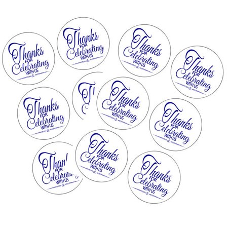 Envelope Decoration Ideas (90 Navy Thank You For Celebrating 1.5inch Round Party Favor Stickers / Envelope Seals/ Favor)
