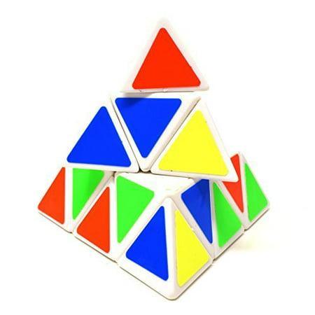 Turbotech Triangular Pyramid Pyraminx White Edge Speed Cube Puzzle