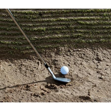 Canvas Print Golf Club Sport Grass Ball Golfing Golf Ball Golf Stretched Canvas 10 x 14 (Tall Grass Golf)