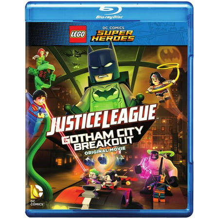 Lego Dc Comics Super Heroes  Justice League   Gotham City Breakout  Blu Ray   Dvd