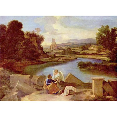 Framed Art for Your Wall Poussin, Nicolas - Landscape with St. Matthew 10 x 13