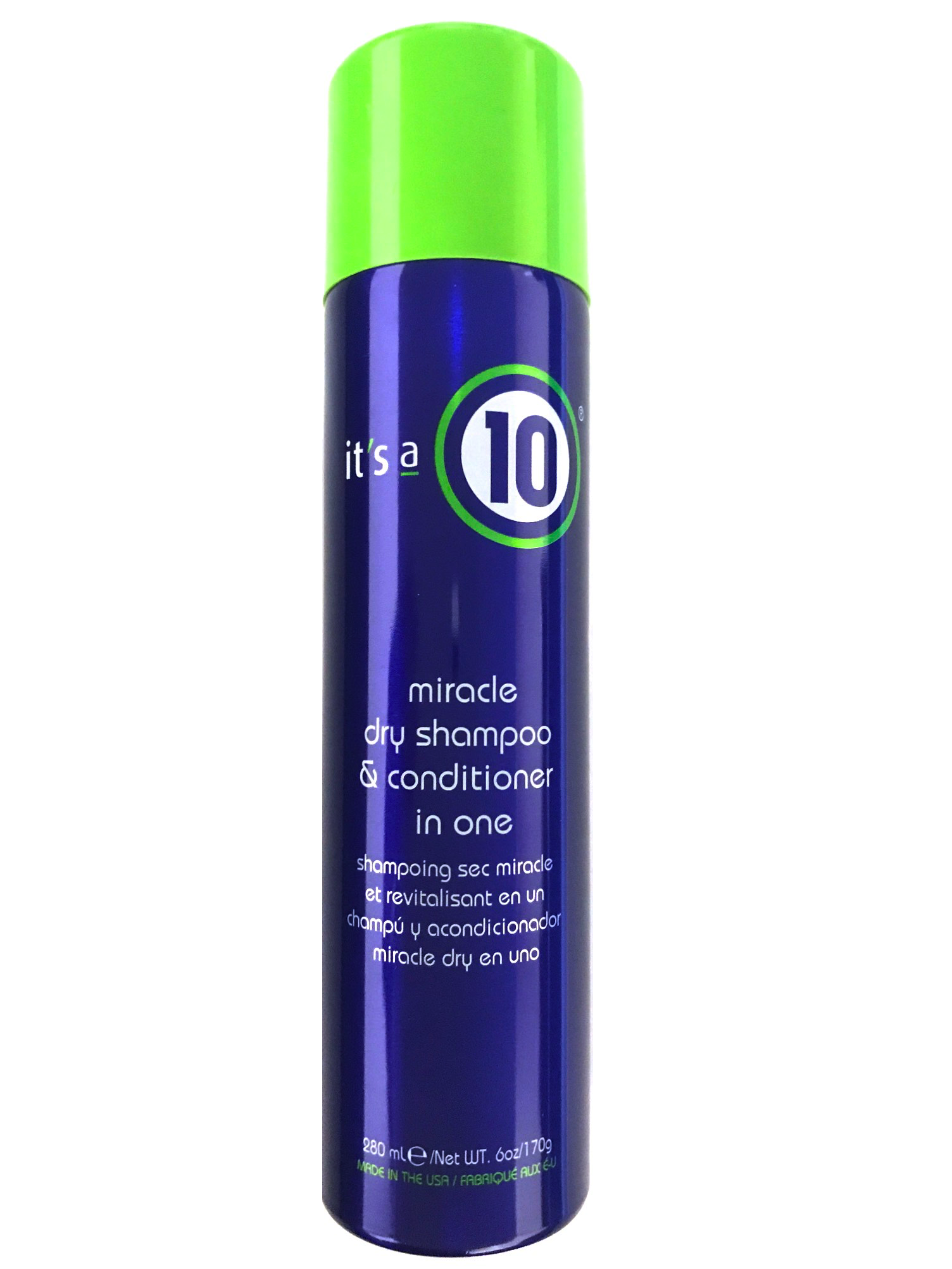 It's A 10 Miracle Dry Shampoo & Conditioner 6 Oz, Refreshes Hair Fragrance And Absorbes Excess Oil