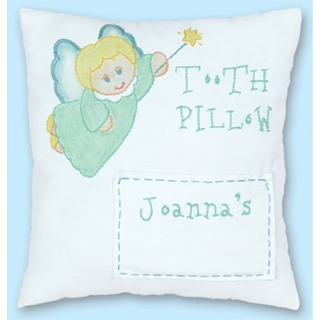 Stamped Tooth Fairy Pillow Cover 8 X8 Tooth Fairy