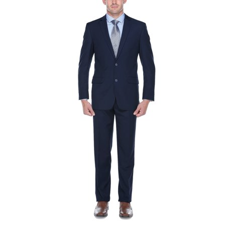 Verno Campana Mens Navy Classic Fit Italian Styled Two Piece Suit