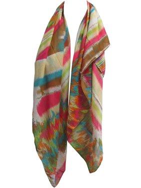 Lightweight Multicolor Rainbow Fashion Indian Cotton Square Scarf JK171