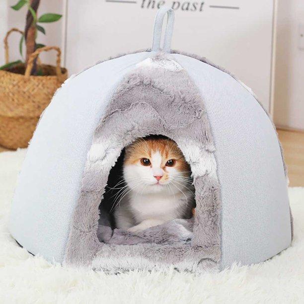 Roseonmyhand Pet Dog Cat Tent House Kennel Winter Warm Nest Soft Foldable Sleeping Mat Pad - Walmart.com - Walmart.com