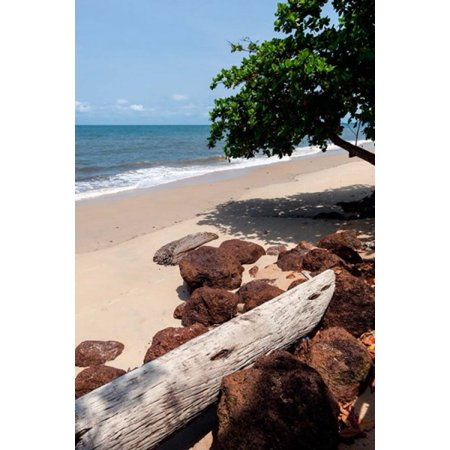 View of the ocean on the Gulf of Guinea Libreville Gabon Canvas Art - Alida Latham DanitaDelimont (23 x 35)