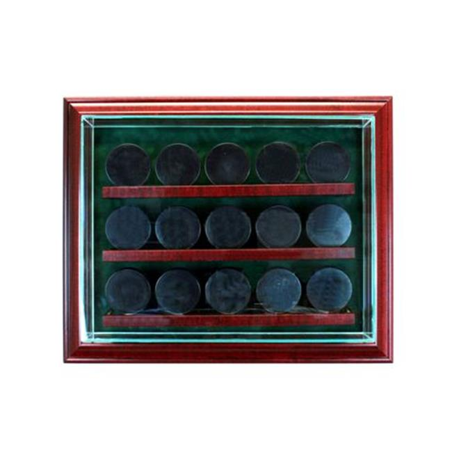 Perfect Cases PC-15PCKCB-C 15 Hockey Puck Cabinet Style D...