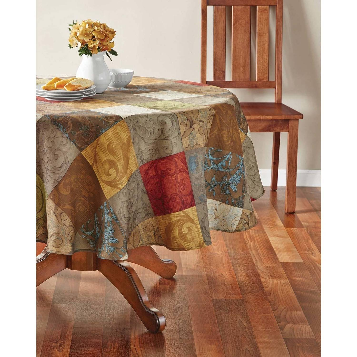 "Mainstays Tuscany Fabric Tablecloth, 52"" x 70"""