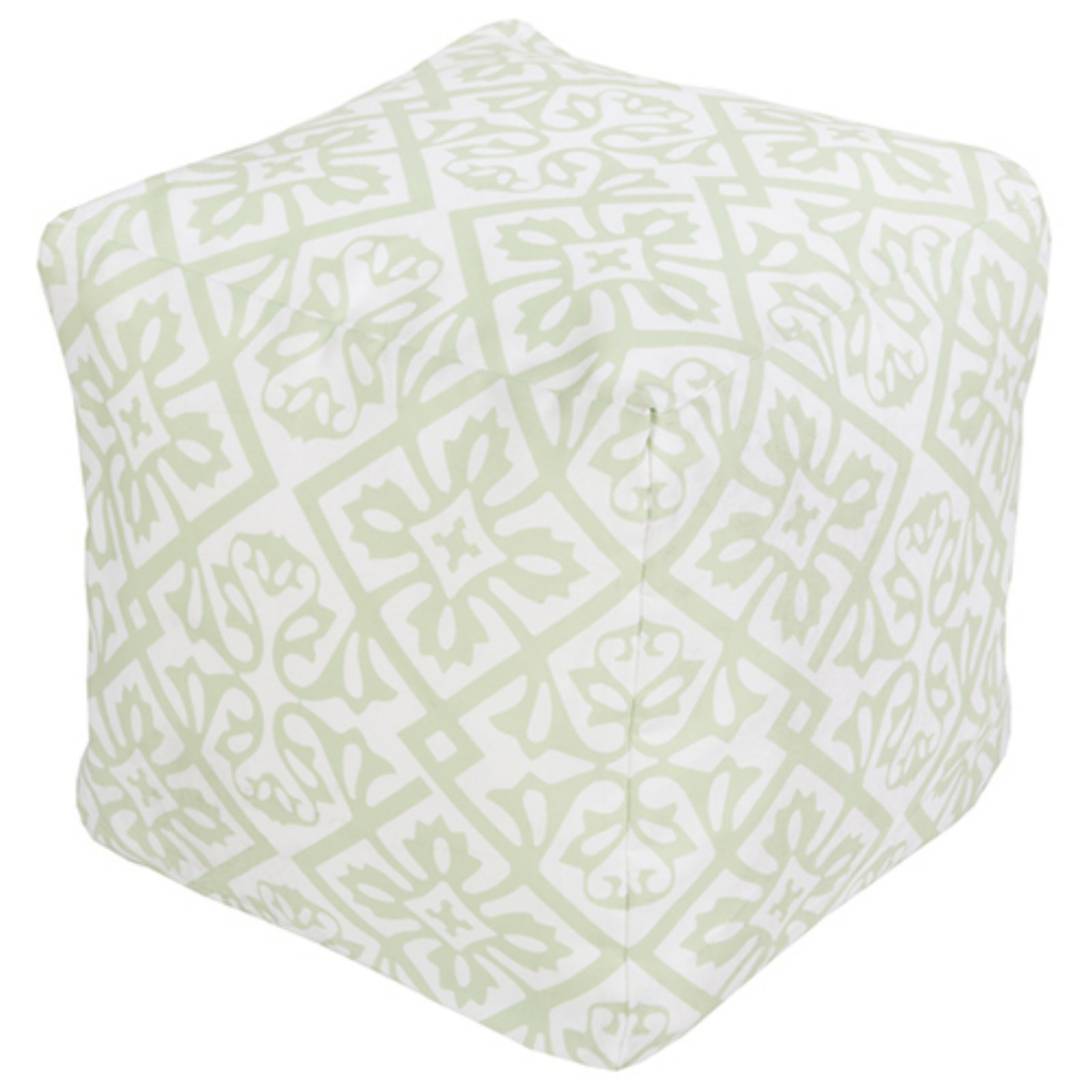 Surya 18 x 18 in. Outdoor Flower Cube Pouf by Surya
