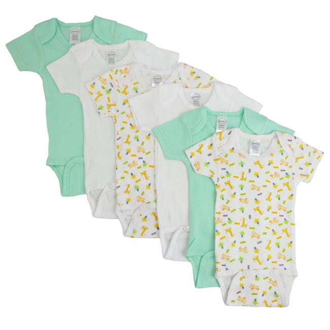 Bambini CS-004S-004S Boys Short Sleeve & Printed, White & Green - Small - image 1 of 1