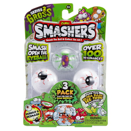 Smashers Smash Ball Collectibles Series 2 Gross by ZURU (3 Pack)