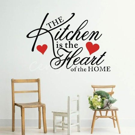 Kitchen Home Heart Removable Vinyl Wall Stickers DIY Decor Art Quote Home Decals - image 2 de 3