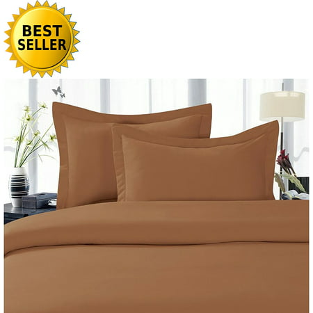 Celine Linen Best, Softest, Coziest Duvet Cover Ever! 1500 Thread Count Egyptian Quality Luxury Super Soft WRINKLE FREE 3-Piece Duvet Cover Set , King/Cali King, Mocha