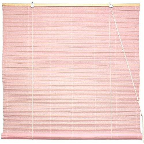 Oriental Furniture Shoji Paper Roll Up Blinds - Light Pink - (36 in. x 72 in.)