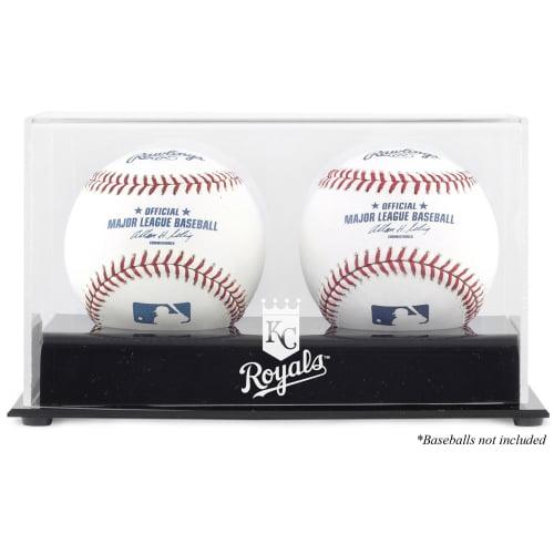 Kansas City Royals Two Baseball Cube Logo Display Case