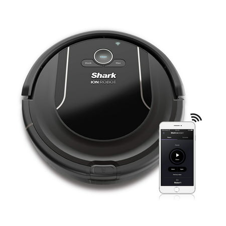 SHARK ION Robot Vacuum R85 WiFi-Connected with Powerful Suction, XL Dust Bin, Self-Cleaning Brushroll (RV850)