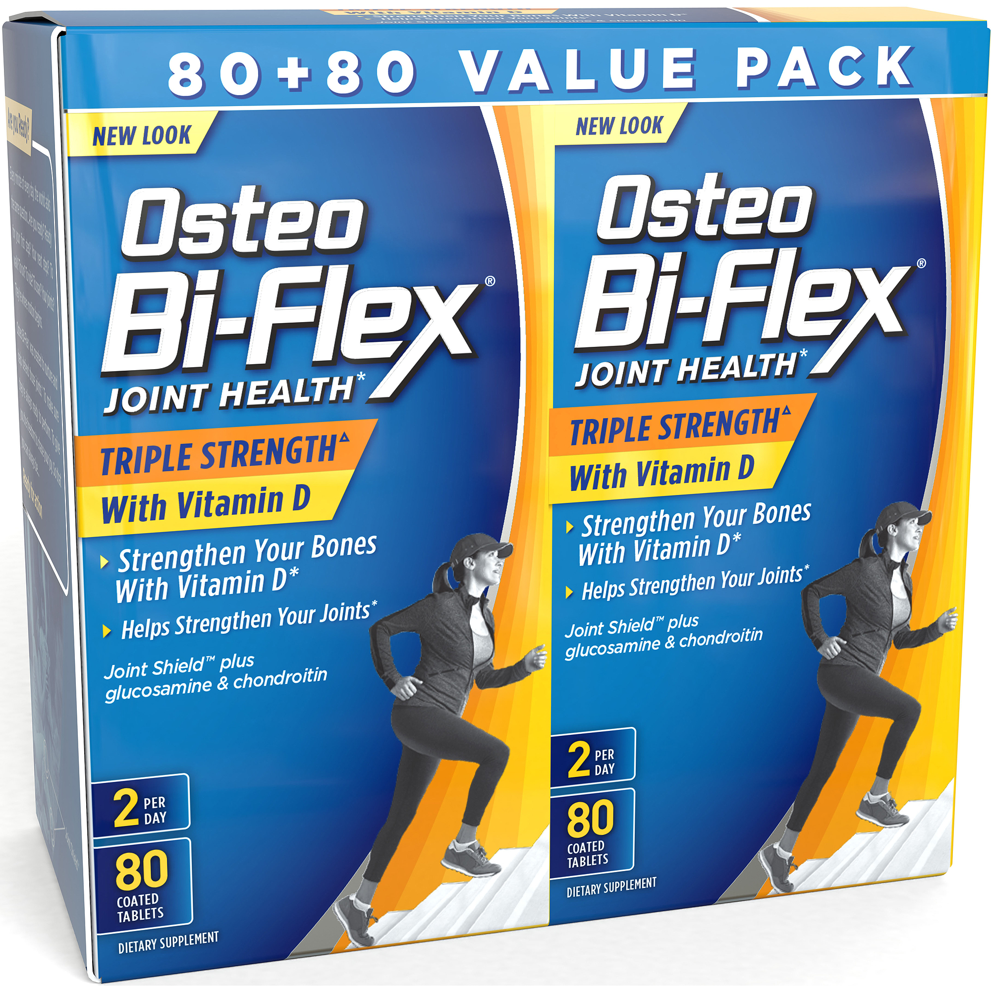 Osteo Bi-Flex Triple Strength Joint Care Dietary Supplement Coated Caplets, 80 count, (Pack of 2)