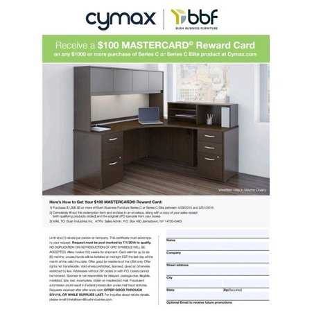 Bush Business Series C RH Corner Computer Desk in Warm Oak - image 3 of 6
