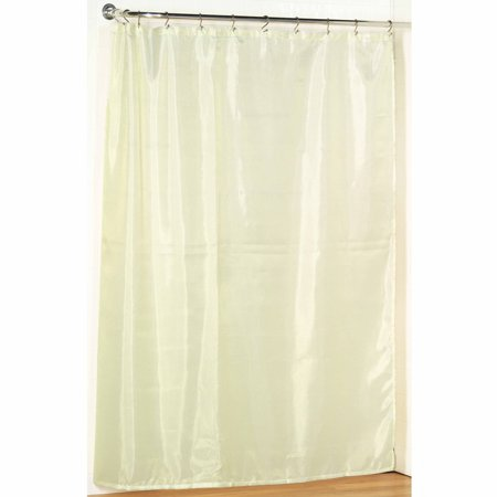 Ivory Extra Long Fabric Shower Curtain: Weighted Hem, Water ...