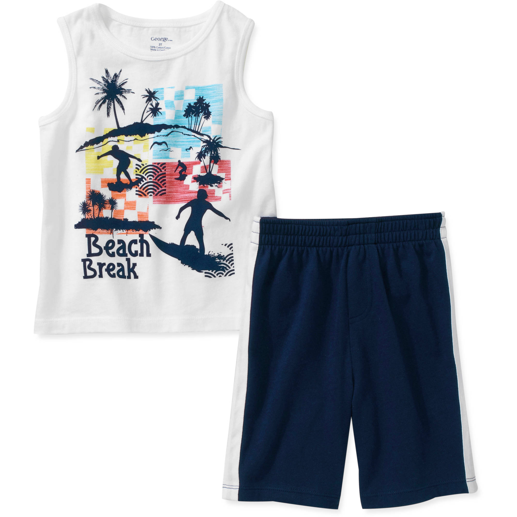 George Baby Boys' 2 Piece Graphic Tank and Short Set