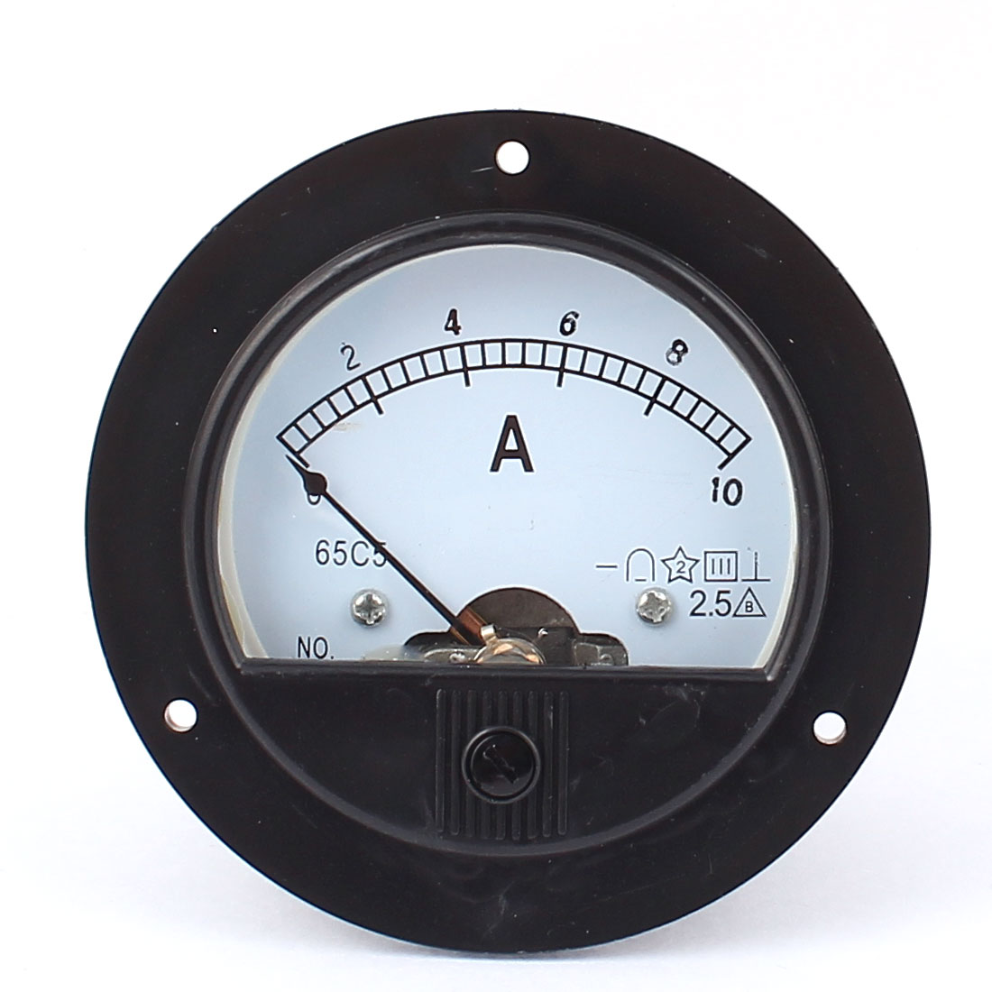 Unique Bargains DC 0-10A Round Panel Meter Gauge Current Tester Analogue Analog Ammeter