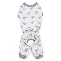 Zack & Zoey UM1123 14 87 Pet Pajamas - Silver with Polka-Dot Elephants - Small & Medium