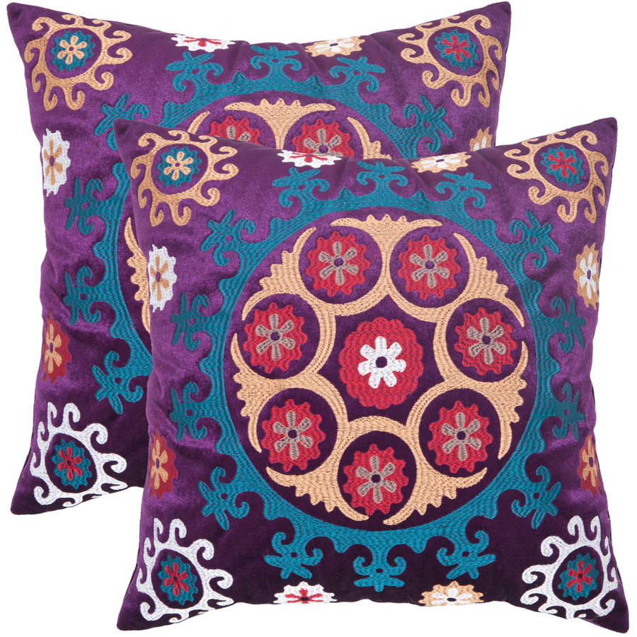 Safavieh Gold/Purple Vanessa Pillow, Set of 2