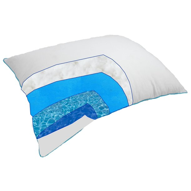 Therapeutic Water Pillow   Fiber filled Down Alternative