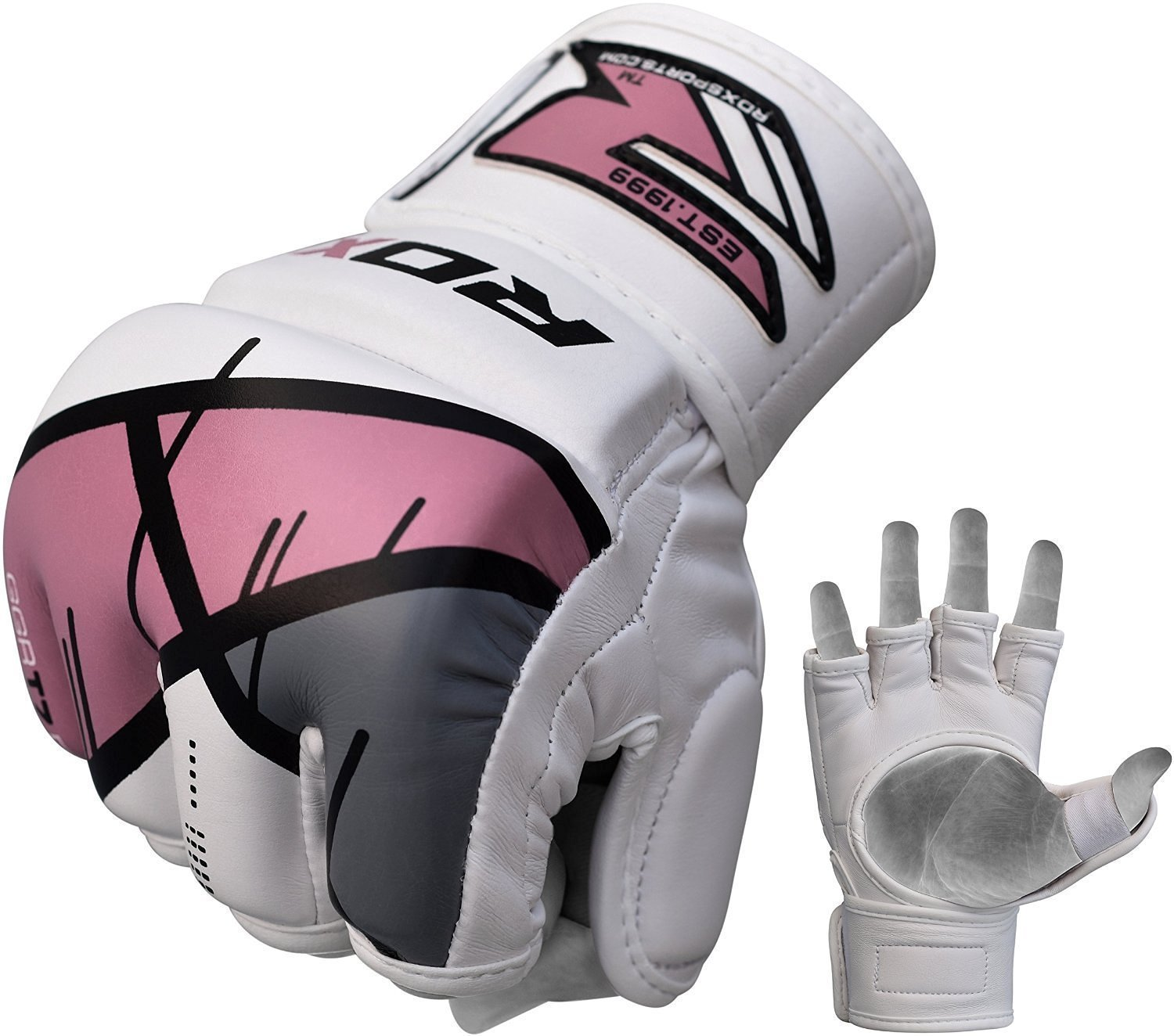 RDX MMA Gloves Women Grappling Martial Arts Ladies Cage Fighting Maya Hide Leather Girls UFC Combat Training by RDX