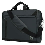 VANGODDY Series Professional Over the Shoulder Vegan Leather Laptop Bag Case fits up to 15, 15.6 inch Laptops / Ultrabooks / Tablets (Gray)