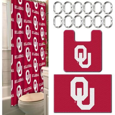Oklahoma 3 Piece Bath - NCAA Oklahoma Sooners 15-Piece Bath Set