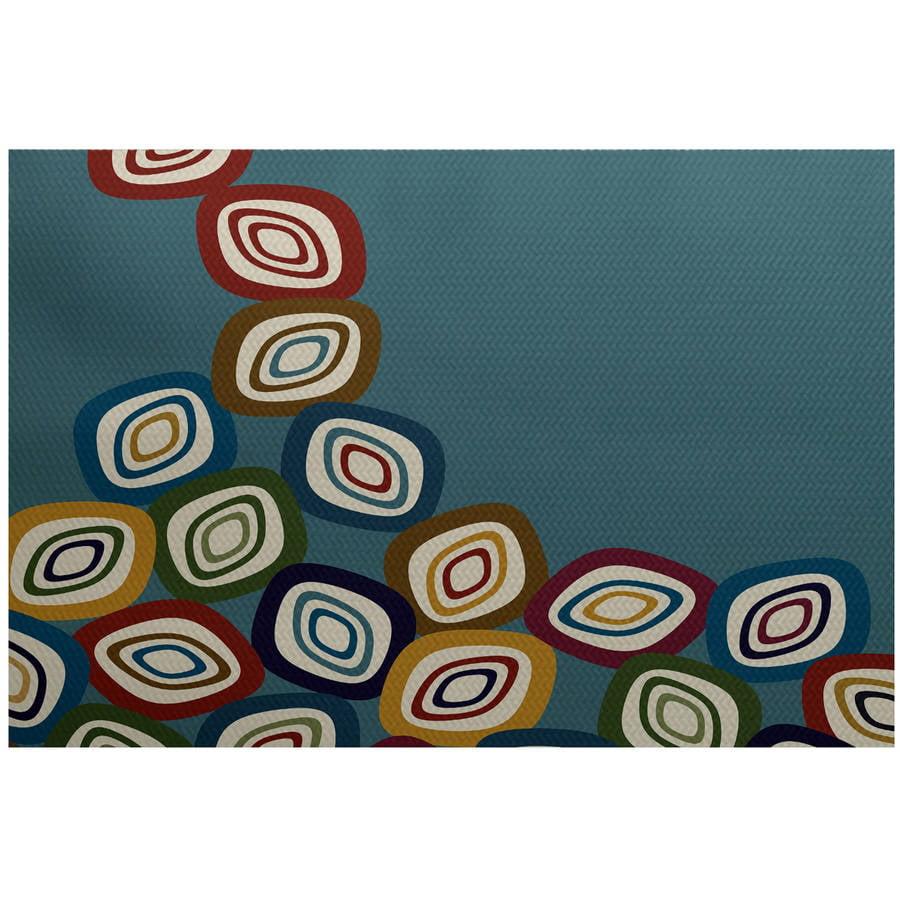 Simply Daisy 2' x 3' Falling Leaves Geometric Print Indoor Rug