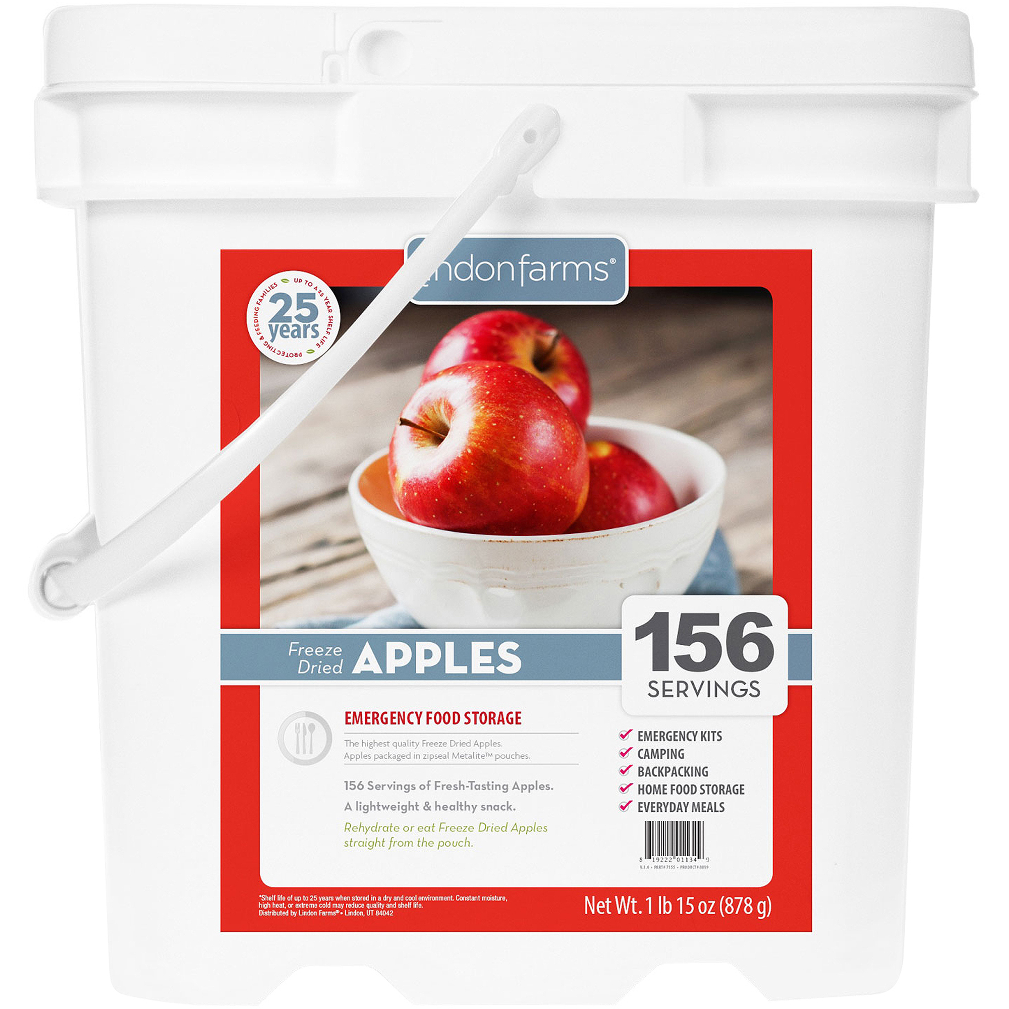Lindon Farms 156 Servings Freeze Dried Apples by Lindon Farms