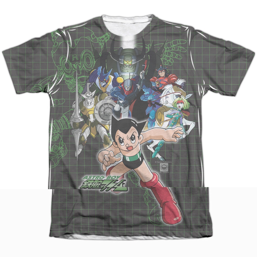 Astro Boy Group (Front Back Print) Mens Sublimation Shirt
