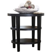 Abbyson Living Madrid Solid Oak Wood End Table, Espresso