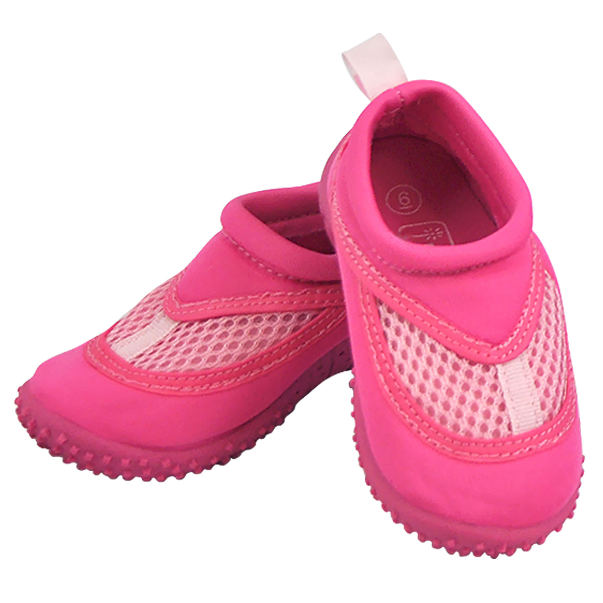 Iplay Baby Girls Sand and Water Swim Shoes Kids Aqua Socks for Babies, Infants, Toddlers, and Children Hot Pink Size 7 / Zapatos De Agua